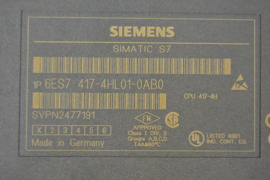 SIEMENS SIMATIC S7 Zentralbaugruppe CPU 417-4H 6ES7 417-4HL01-0AB0 V3.1.4