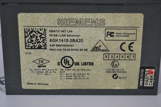 SIEMENS SIMATIC NET Interface 6GK1415-2BA20