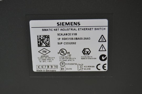 SIEMENS SIMATIC NET Industrial Ethernet Switch 6GK5108-0BA00-2AA3
