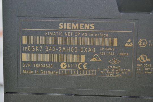 SIEMENS SIMATIC NET CP AS-Interface 6GK7343-2AH00-0XA0 6GK7 343-2AH00-0XA0