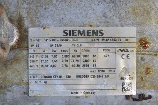 SIEMENS Servomotor 1PH7103-2NG02-0CJ0 1PH71032NG020CJ0