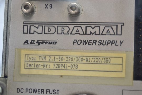 INDRAMAT AC Servo Power Supply TVM 2.1-50-220/300-W1/220/380