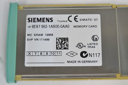 SIEMENS SIMATIC S7  6ES7 952-1AS00-0AA0 6ES79521AS000AA0